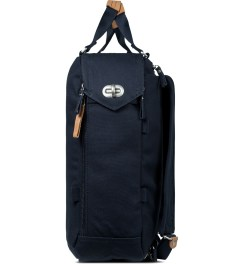 QWSTION Organic Navy Daypack Model Picture