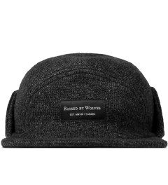 Raised by Wolves Charcoal/Black Skyline Earflap Cap Picture