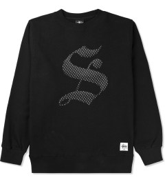 "Stussy Black Old English ""S"" Crew Sweater Picutre"