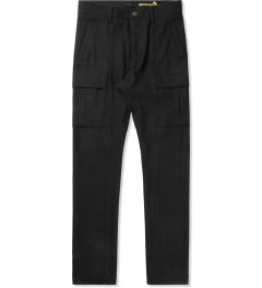 Munsoo Kwon Black Brushed Span Cargo Pants Picture