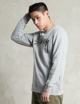 Stussy Grey Heather O.G. Stock EMB. Sweater Picture