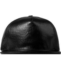 Stampd Black Embossed Lambskin Snapback Cap Picture