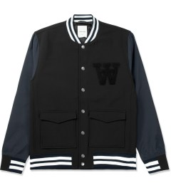 Wood Wood Black Giles Bomber Jacket Picture