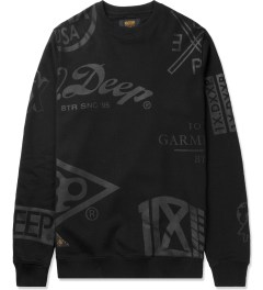 10.Deep Black Full Clip Crewneck Sweater Picture