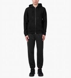 SUNSPEL Black Zip Front Hoodie Model Picutre