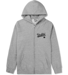 Undefeated Heather Grey Script Zip Hoodie Picutre