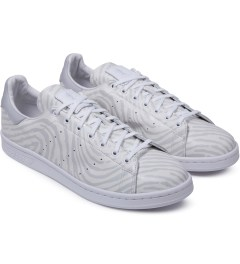 adidas Originals Opening Ceremony x Adidas Originals White Pony Fingerprint Stan Smith Sneakers Model Picture