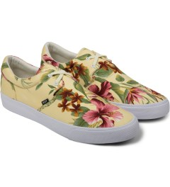HUF Ivory Floral Cotton Canvas Genuine Shoes Model Picutre