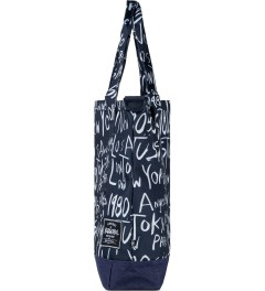 Stussy Navy Stussy x Herschel Supply Co. Cities Tote Bag Model Picutre