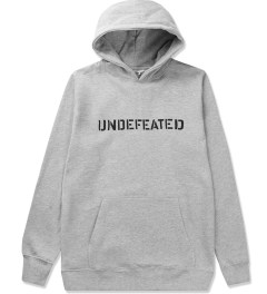 Undefeated Heather Grey Block Basic Hoodie Picutre