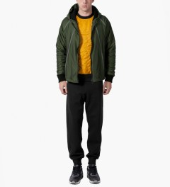 Christopher Raeburn Black/Yellow Quilted Raglan Sweater Model Picture