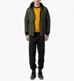 Christopher Raeburn Black/Yellow Quilted Raglan Sweater Model Picutre