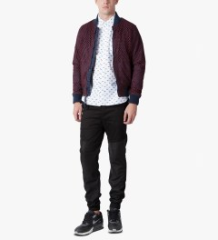 Publish Maroon Millo Jacket Model Picture