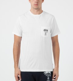 Stussy White World Tour S/S Pocket T-Shirt Model Picture