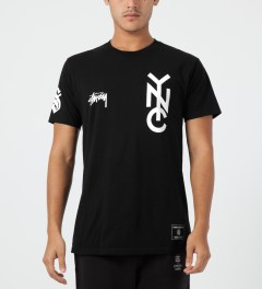 Stussy Black NYC 80 T-Shirt Model Picture