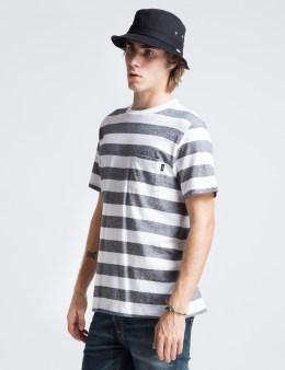 Stussy White Pinline Crewneck T-Shirt Picture