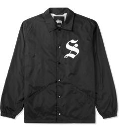 Stussy Black LB Coaches Jacket Picutre