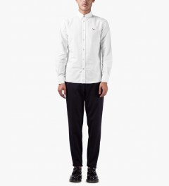 Maison Kitsune White Tricolor Patch Fox Classic Shirt Model Picutre
