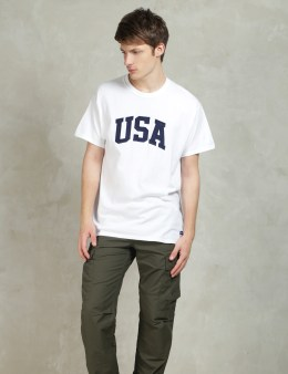 HUF White Huf USA Heavyweight T-Shirt Picture