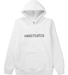Undefeated White Block Basic Hoodie Picutre