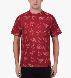 Primitive Red HLFU T-Shirt Model Picture