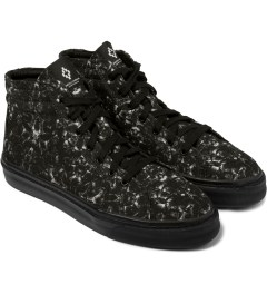 Marcelo Burlon Black Snake Print Allover Hi Top Sneakers Model Picutre