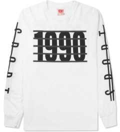 ICNY White 1990 L/S Basic T-Shirt Picture