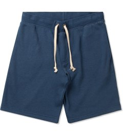 Lightning Bolt Estate Blue Stripe Triblend Drawstring Fleece Shorts Picutre