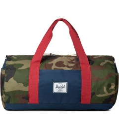 Herschel Supply Co. Woodland Camo/Navy/Red Sutton Duffle Bag Picutre