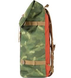 Poler Camo/Orange Roll-Top Backpack Model Picutre