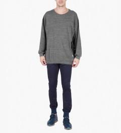 U.S. Alteration Grey AS14 Long Sleeve Fringe Sweater Model Picutre