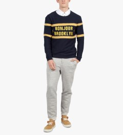 BWGH Navy Bonjour Brooklyn Sweater Model Picutre