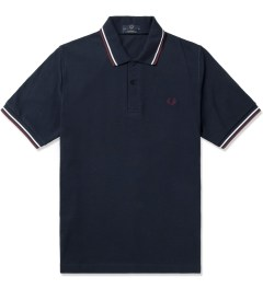 Fred Perry Navy/Snow White/Maroon M12 Original Twin Tipped Fred Perry Polo Shirt Picutre