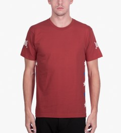 Undefeated Red Global T-Shirt Model Picutre