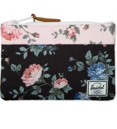 Herschel Supply Co. Black Floral/ Pink Floral Field Pouch Picutre