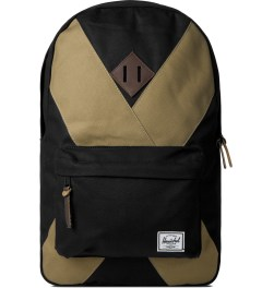 Herschel Supply Co. Black/Sand Heritage Backpack Picutre