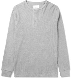 SATURDAYS Surf NYC Heather Grey Max Henley Shirt Picutre