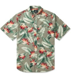 HUF Olive Birds of Paradise S/S Woven Shirt Picture