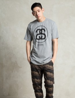 Stussy Grey Heather Mesh Link T-Shirt Picture