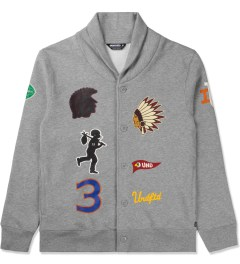 Undefeated Heather Grey Senior V Fleece Cardy Cardigan Picture