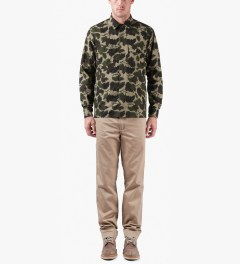 Carhartt WORK IN PROGRESS Camo Mitchell Rinsed L/S Mission Shirt Model Picutre
