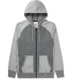 Reigning Champ Grey RC-3268 Hybrid L/S Zip Front Hoodie Picture