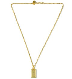 AMBUSH® Gold/Gold Bar Pendant Necklace Picture