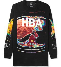 Hood By Air. Black Color Ultrasound L/S T-Shirt Picture