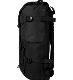 TOPO DESIGNS Ballistic Black Rover Backpack Model Picture
