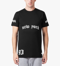 Stampd Black NY/LA T-Shirt Model Picture