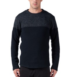 Still Good Navy Melange Jazzy Sweater Model Picutre