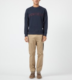 Penfield Navy Brookport Crewneck Sweater Model Picture