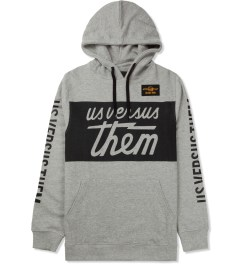 Us Versus Them Heather Grey UVT Racing Hoodie Picture