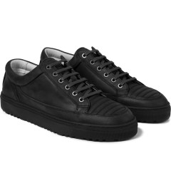 ETQ Dark Anthracite/Black Low Top 2 Sneakers Model Picture